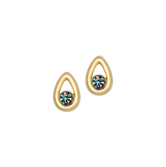 Iris Gold Drop Earrings-Earrings-finish:18kt Gold Plated-Luca + Danni