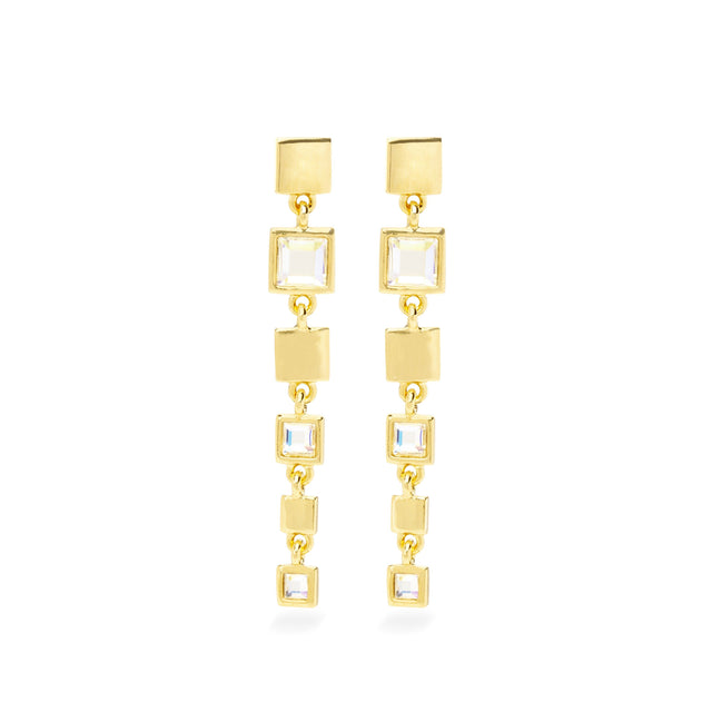 Tatum Drop Earrings finish:18k Gold Plated