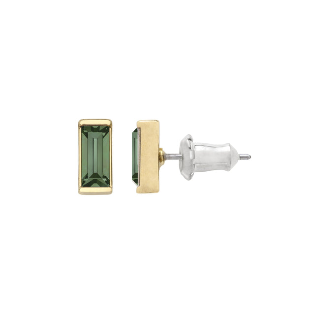 Mini Hudson Earrings in Pine finish:18k Gold Plated