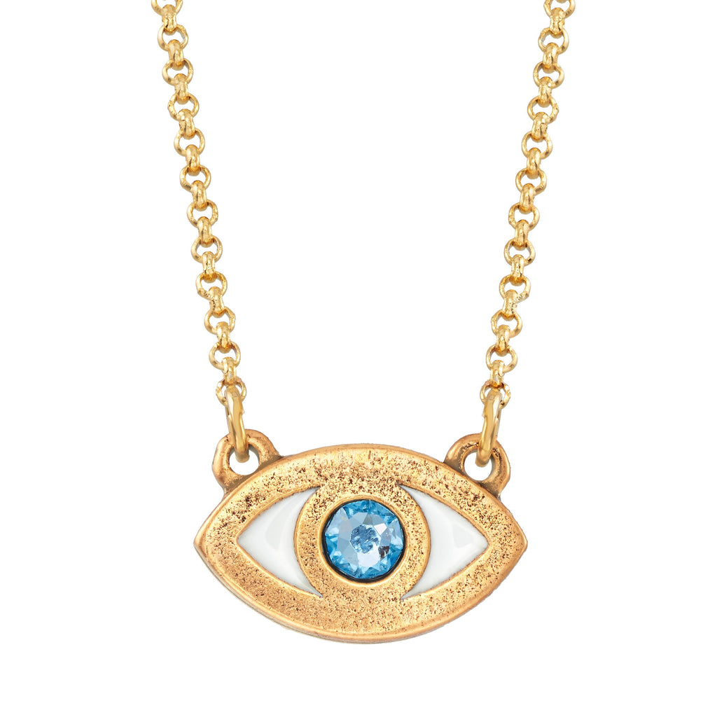 Evil Eye Necklace choose finish:18k Gold Plated