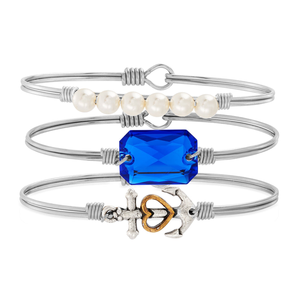 Anchors Away Stack choose finish:silver tone