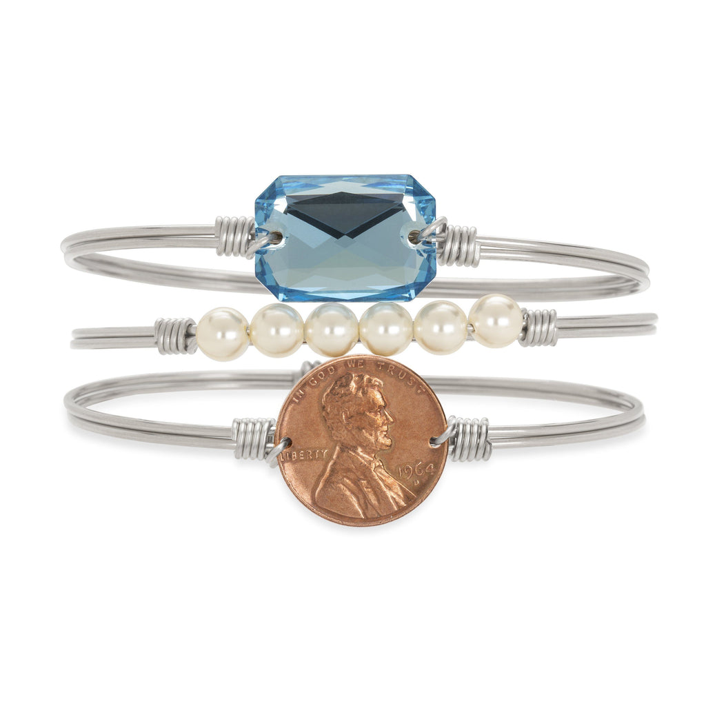 Heavenly Pennies Stack choose finish:Silver Tone