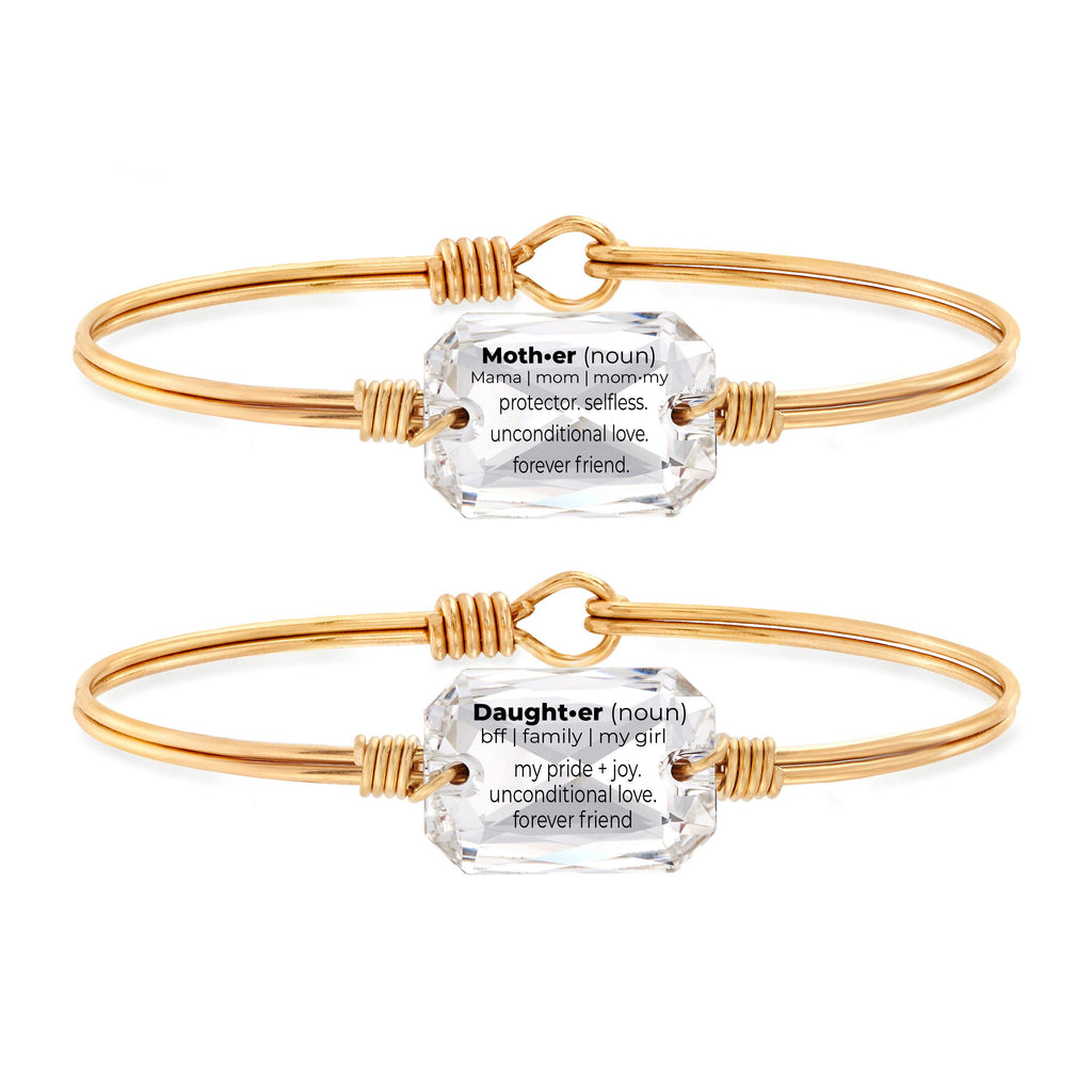 Mother + Daughter Definition Gift Set in Crystal choose finish:Brass Tone