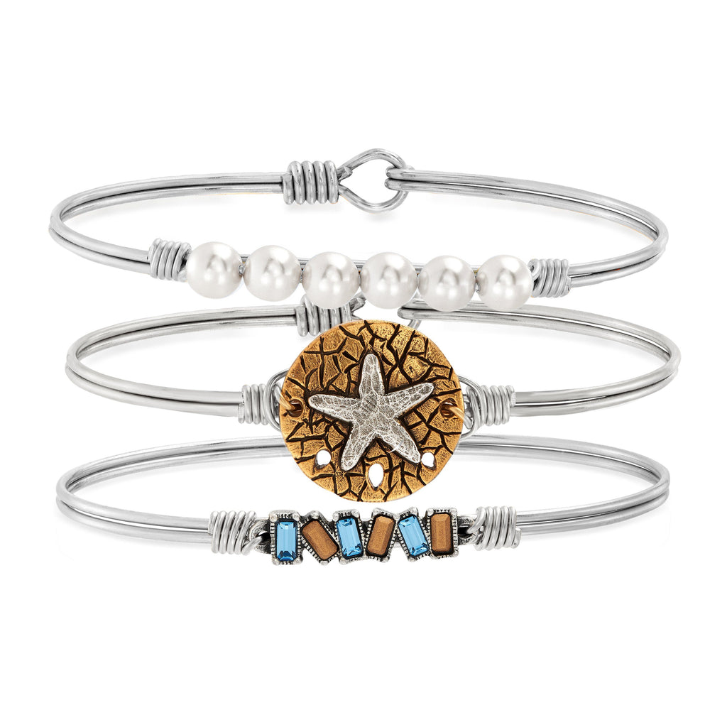 Seas the Day Stack choose finish:Silver Tone