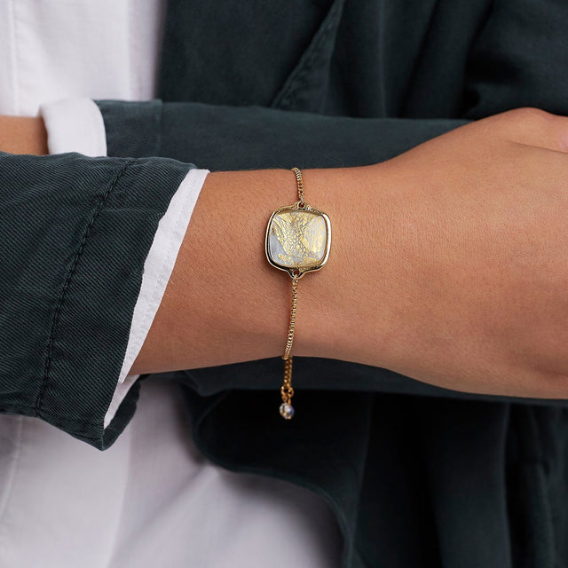Golden Moonstone Slider Bracelet