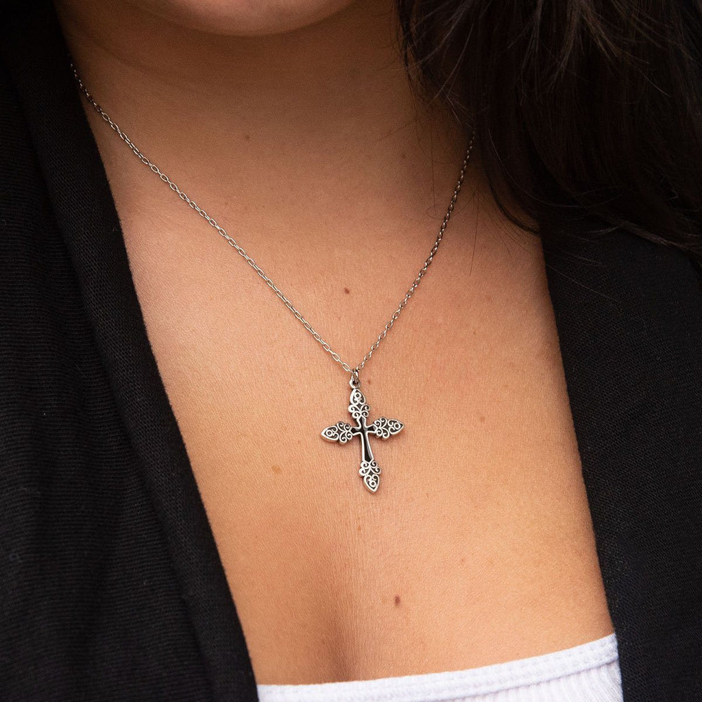 Greek Cross Necklace | Luca + Danni