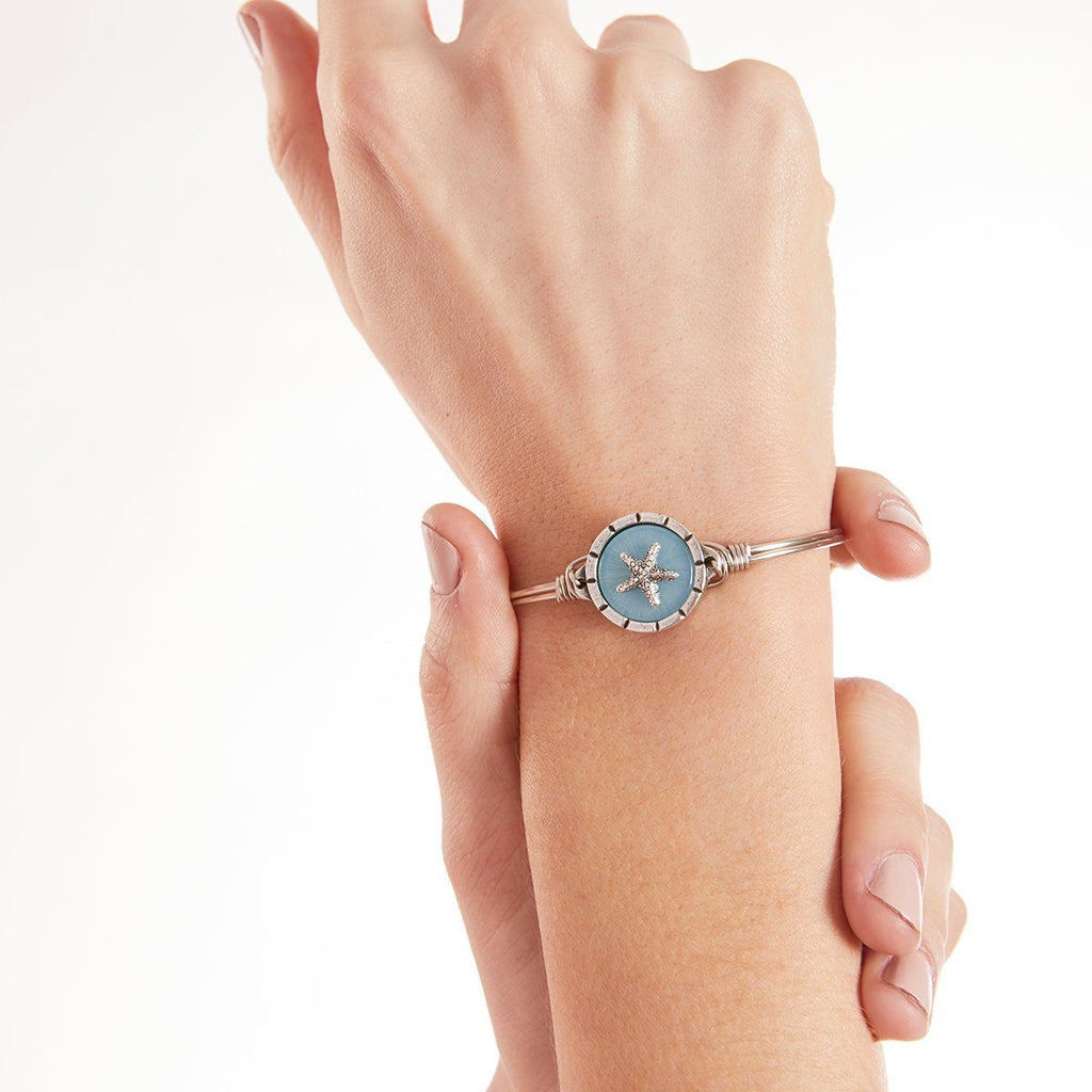 Starfish Isla Bangle Bracelet choose finish: