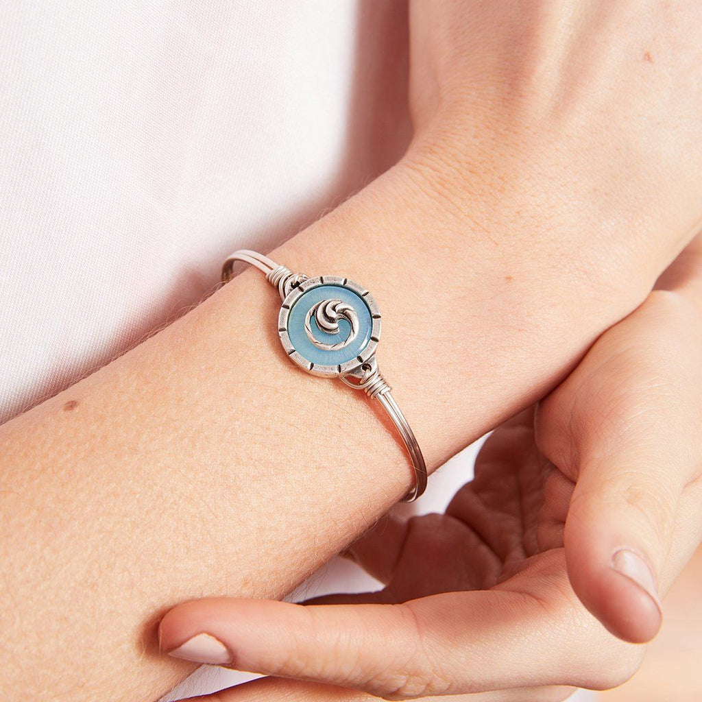 Wave Isla Bangle Bracelet choose finish: