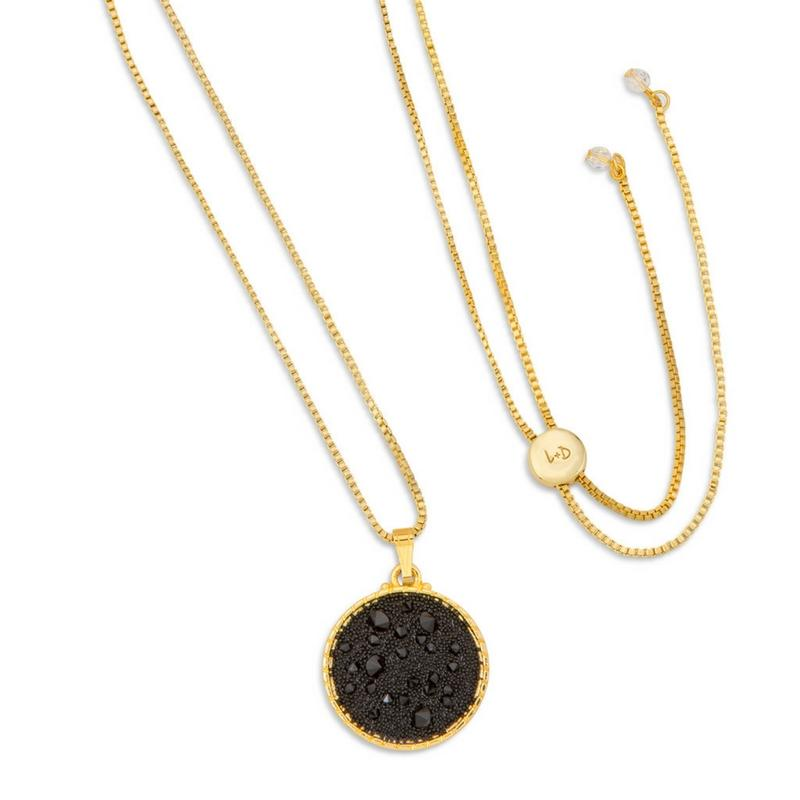 Kelsey Pave Necklace In Jet