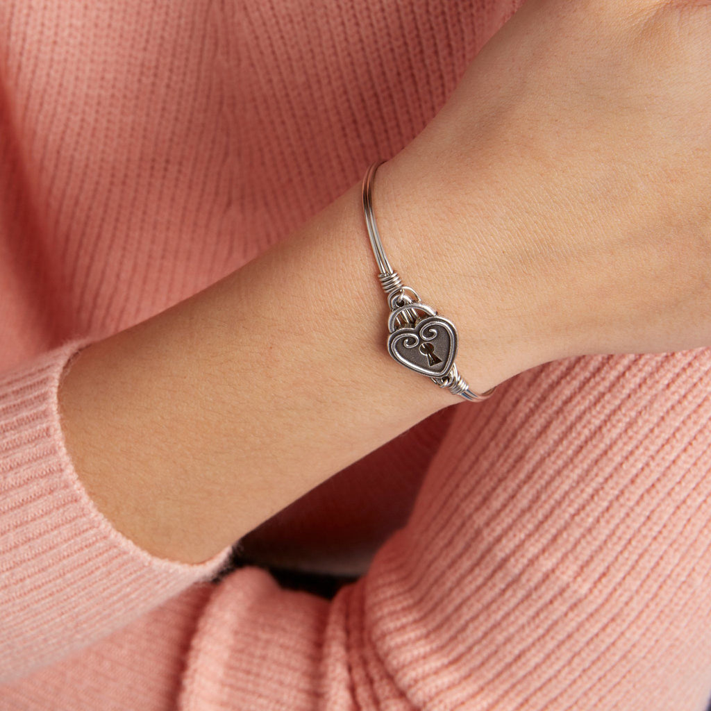 Key to My Heart Bangle Bracelet