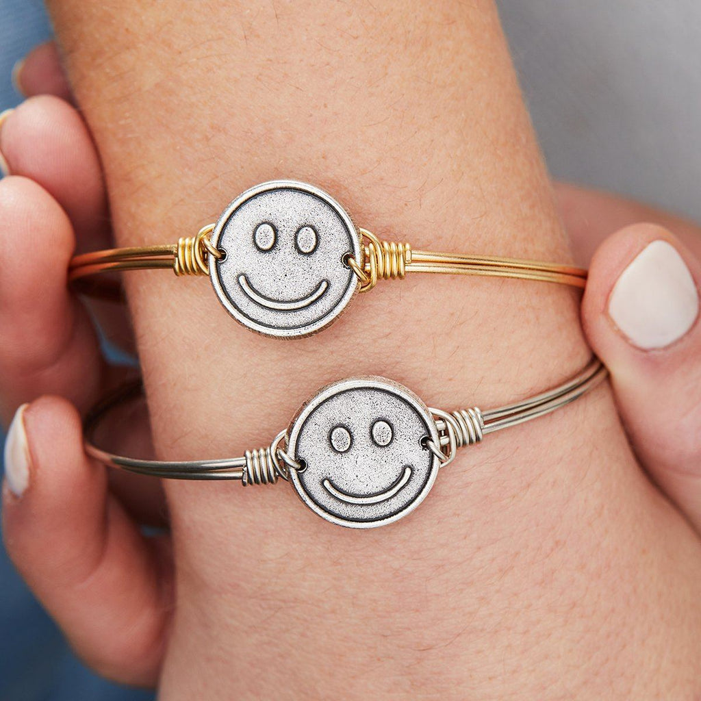 Be Happy Bangle Bracelet choose finish: