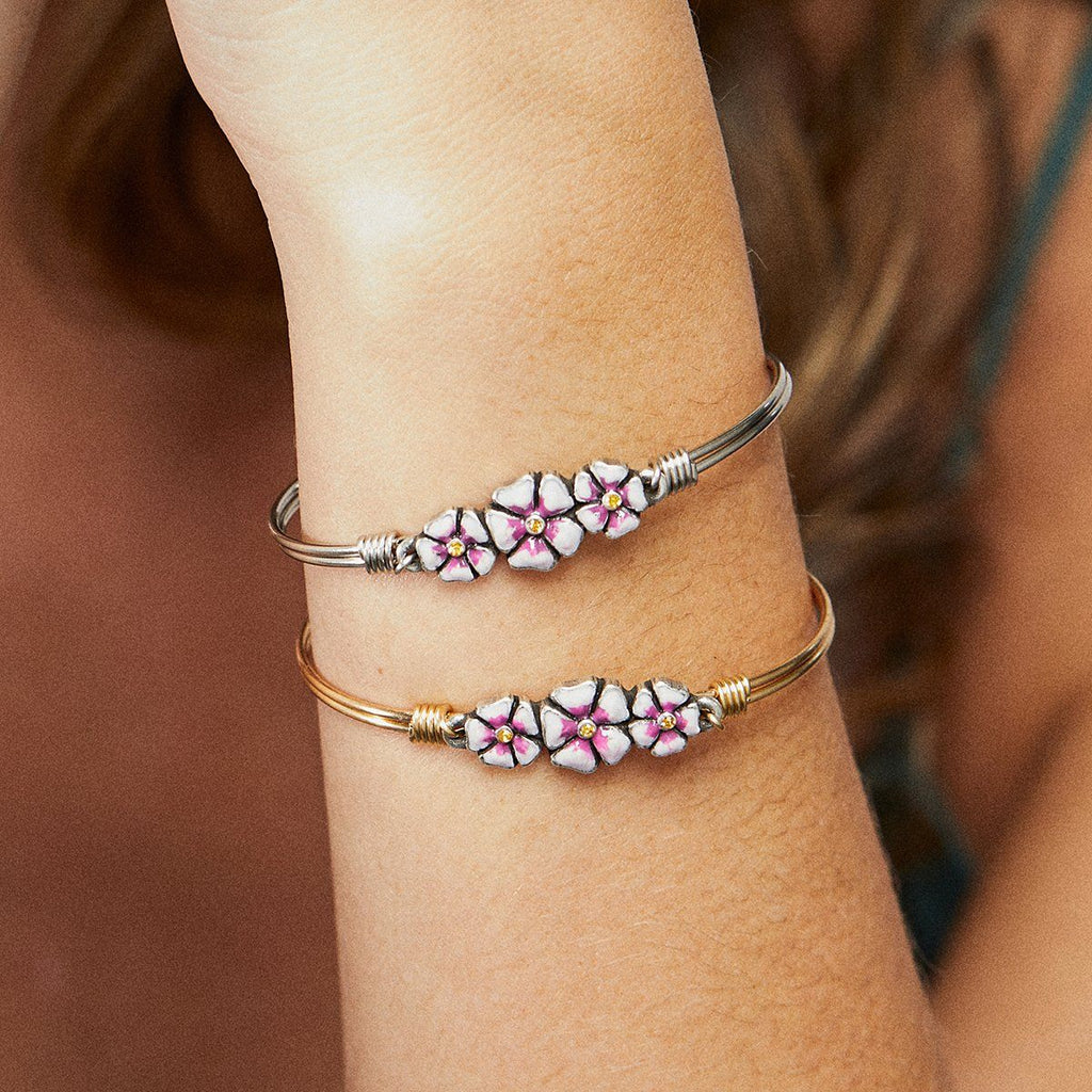 Cherry Blossom Bangle Bracelet