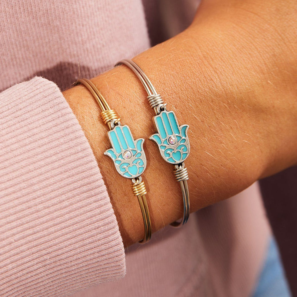 Filigree Hamsa Bangle Bracelet