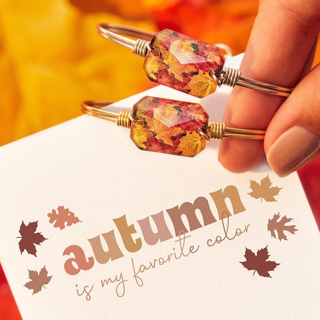 Fall Leaves Bangle Bracelet