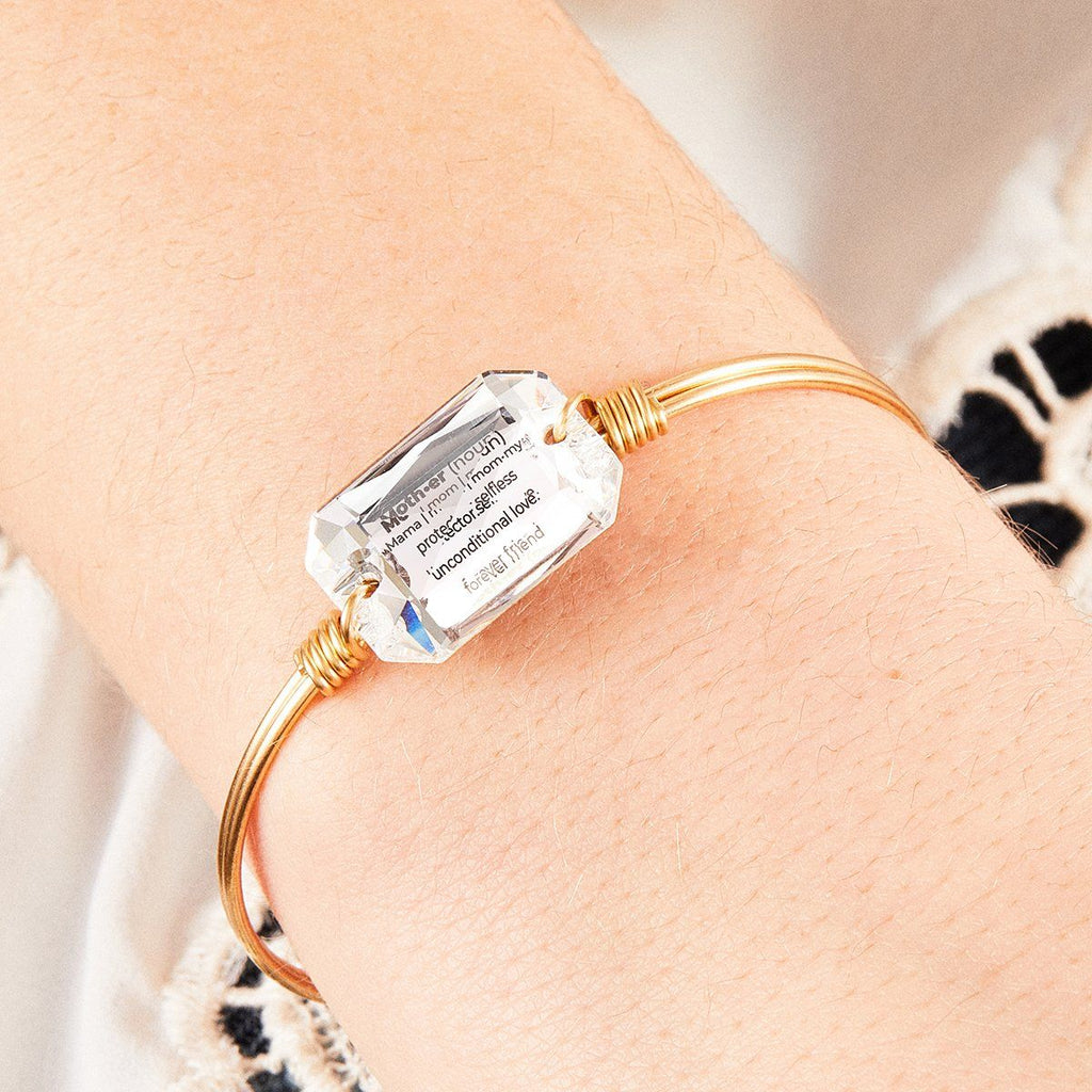 Mom Definition Bangle Bracelet in Crystal