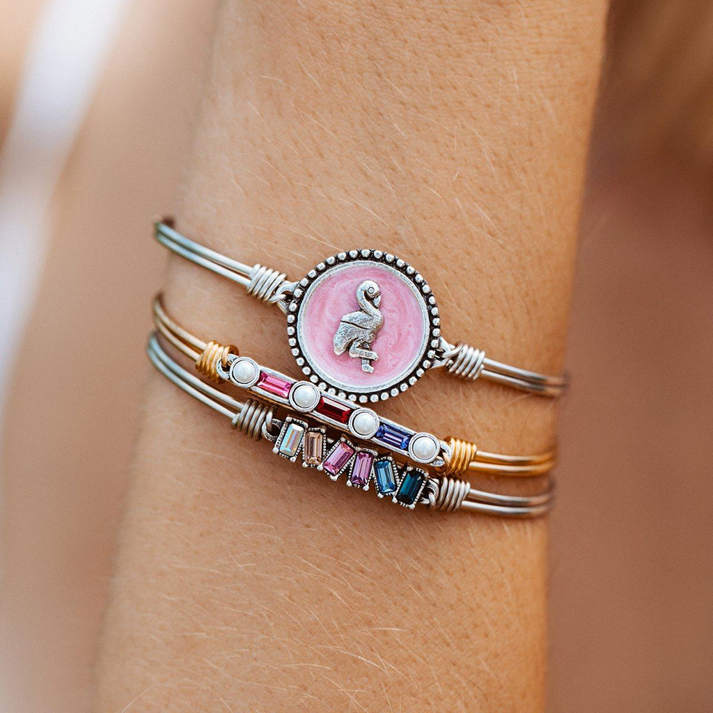 Pink Flamingo Bangle Bracelet