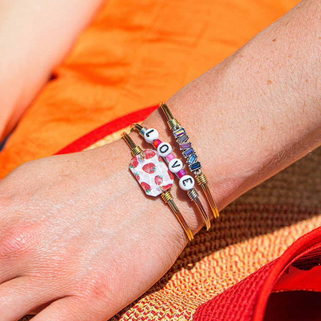 Strawberry Dylan Bangle Bracelet