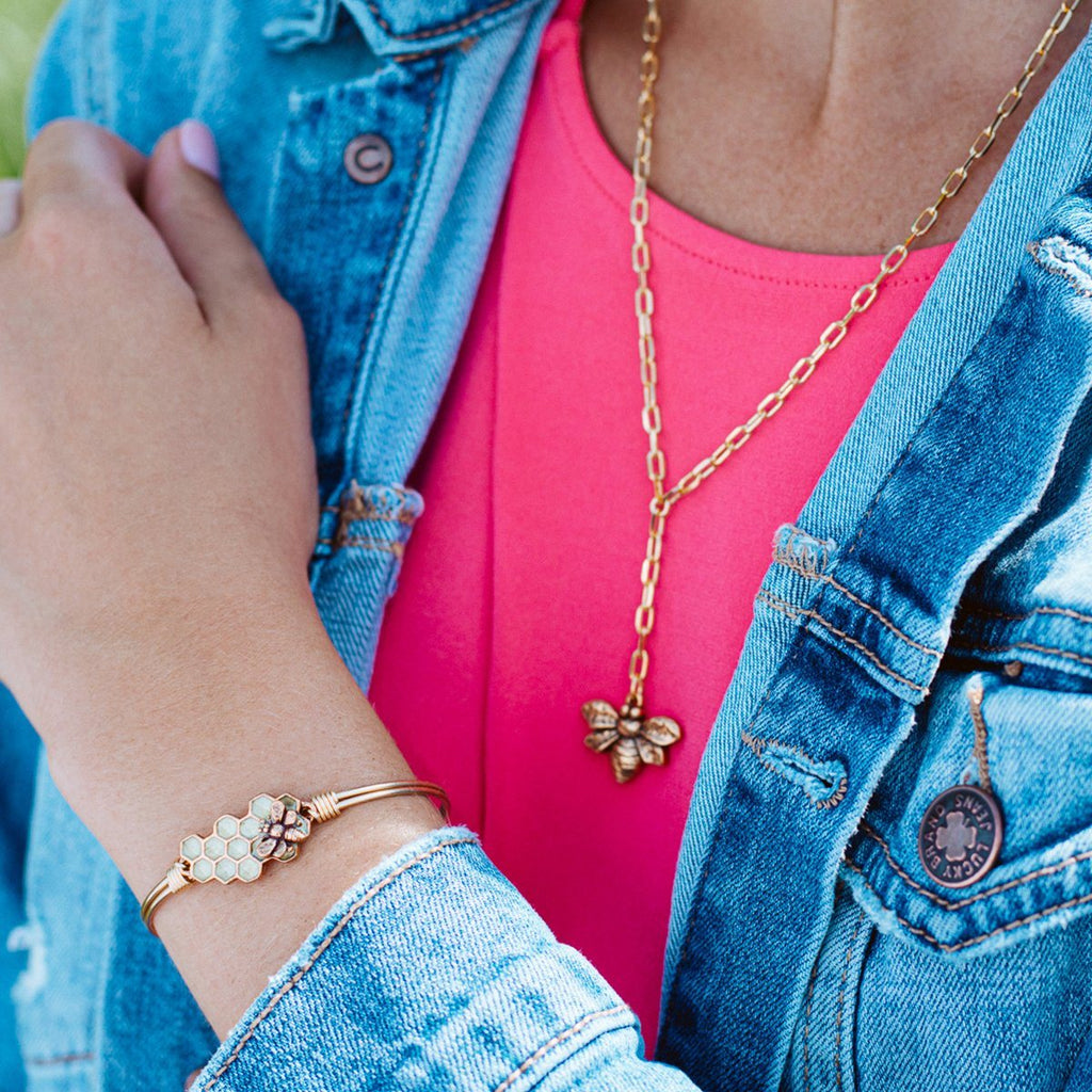 Honeybee Bangle and Necklace Set