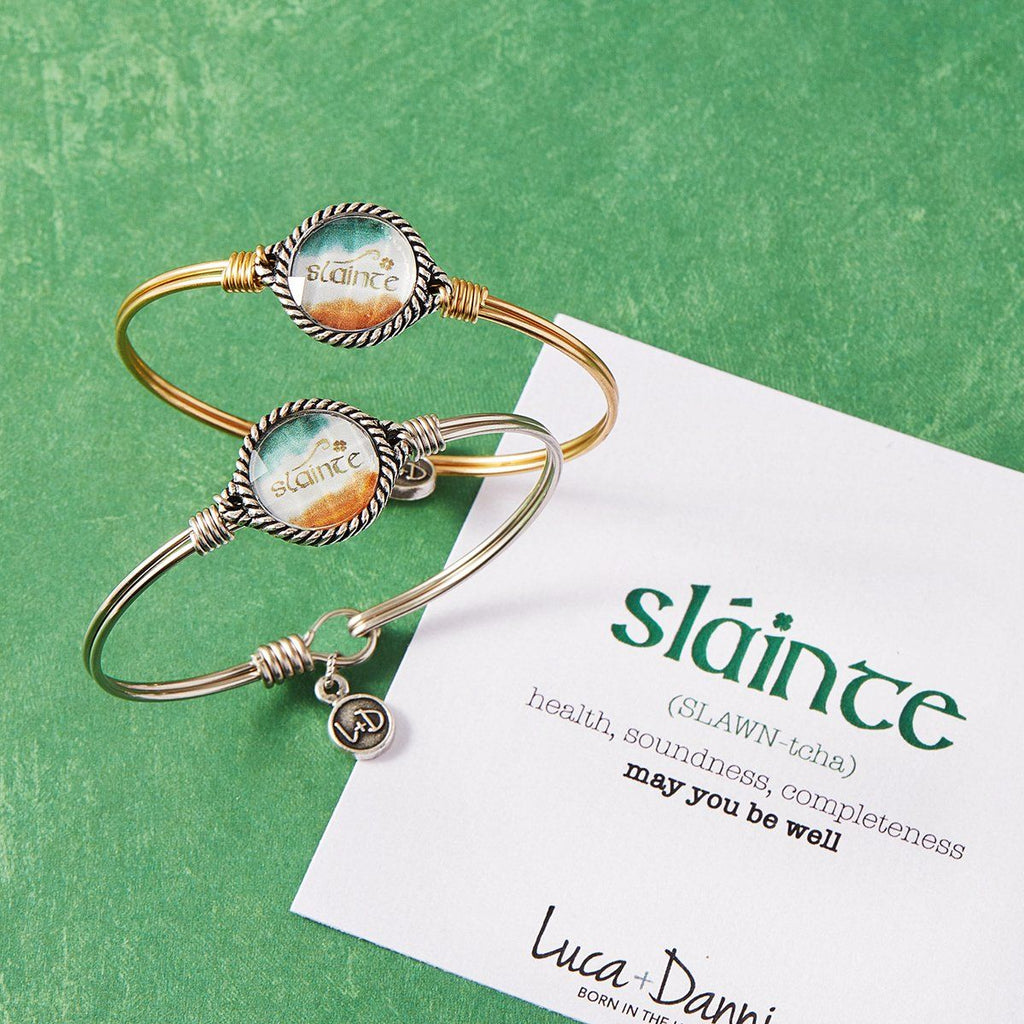 Slainte Bangle Bracelet choose finish: