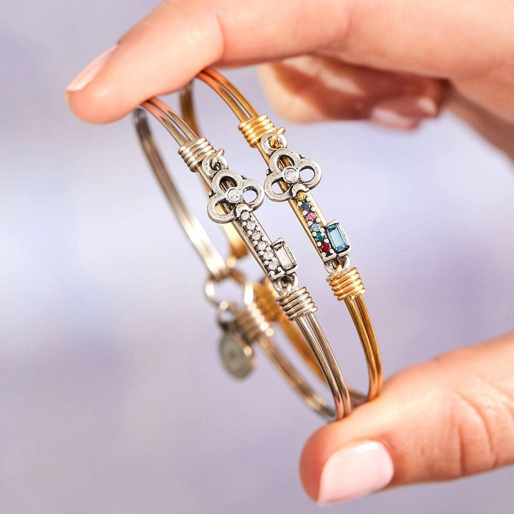 Key Bangle Bracelet in Rainbow