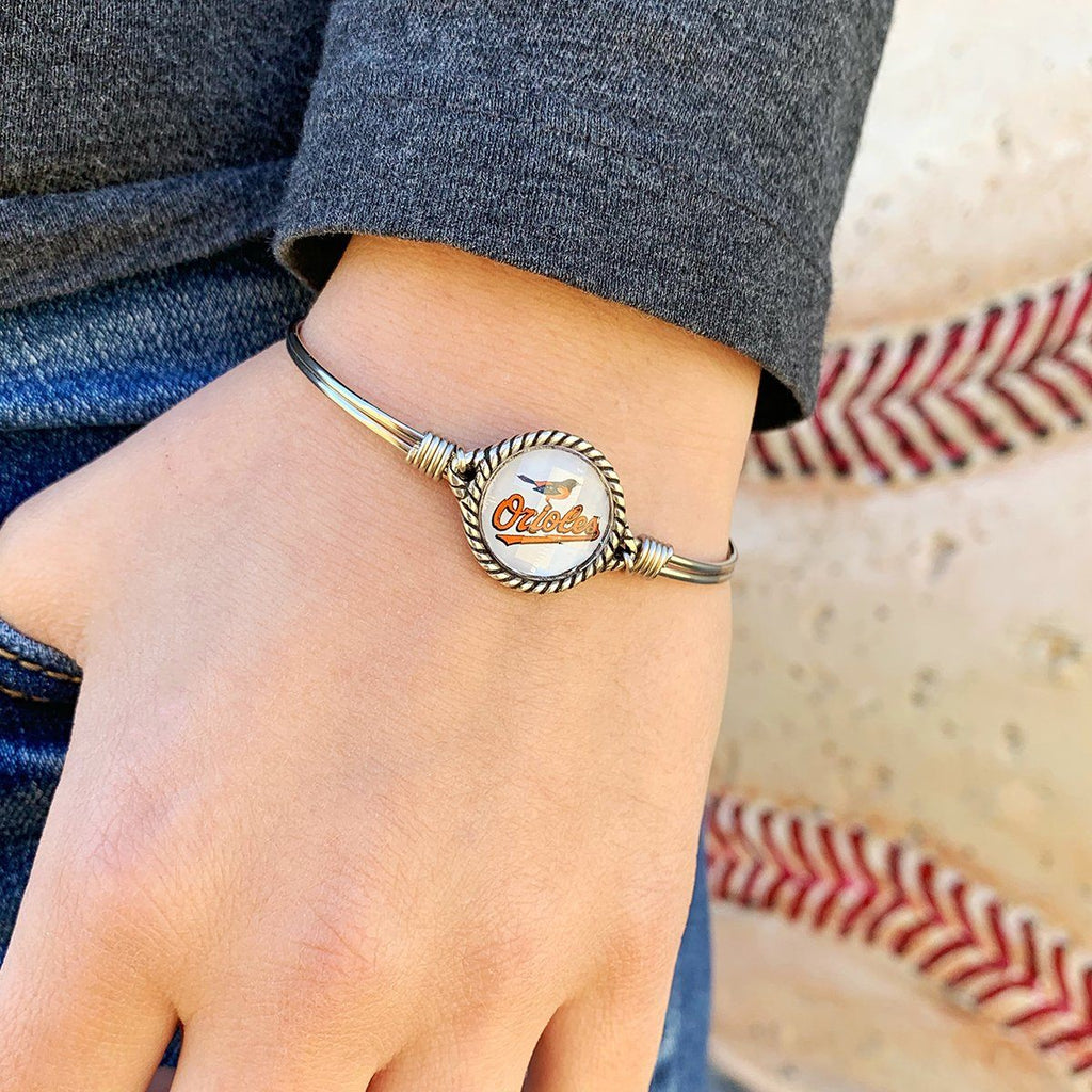 Baltimore Orioles Bangle Bracelet choose finish:
