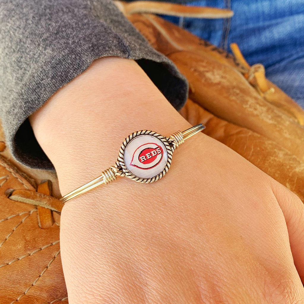 Cincinnati Reds Bangle Bracelet choose finish: