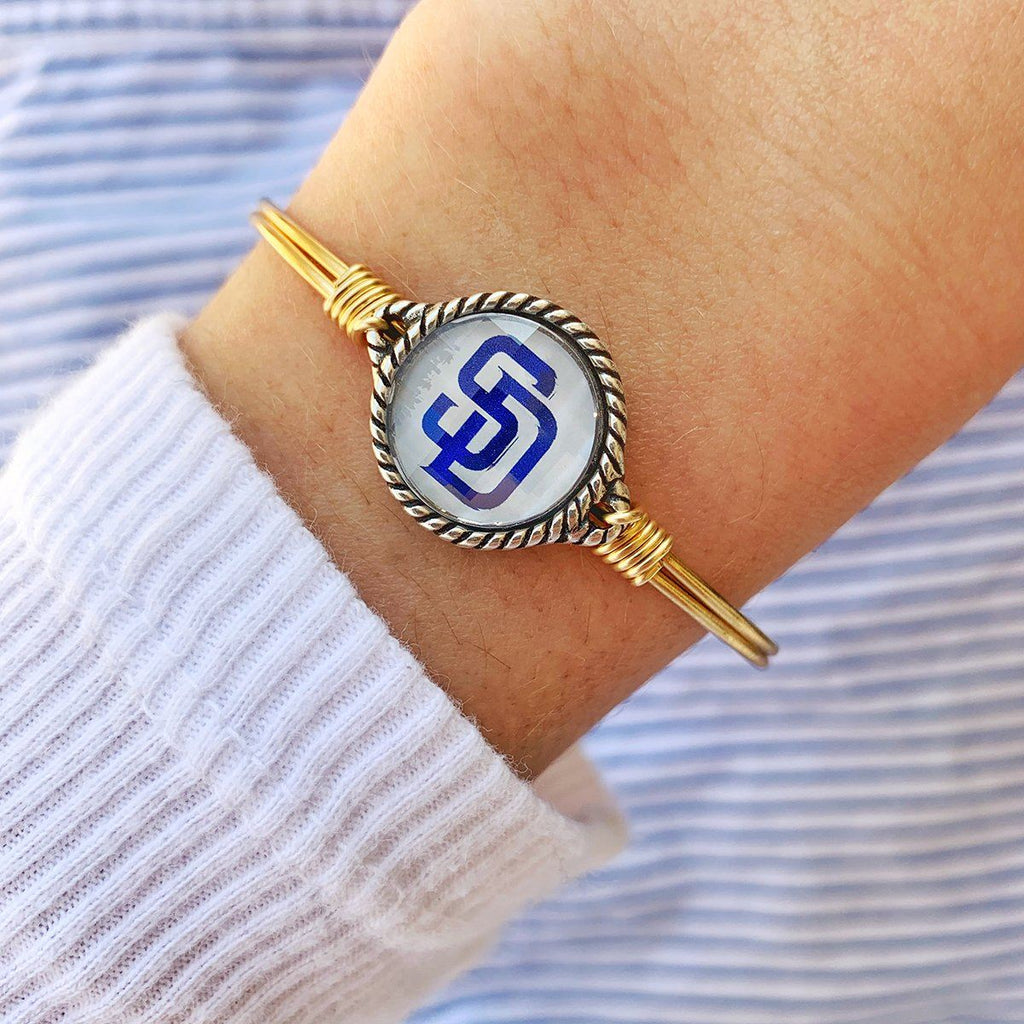 San Diego Padres Bangle Bracelet choose finish: