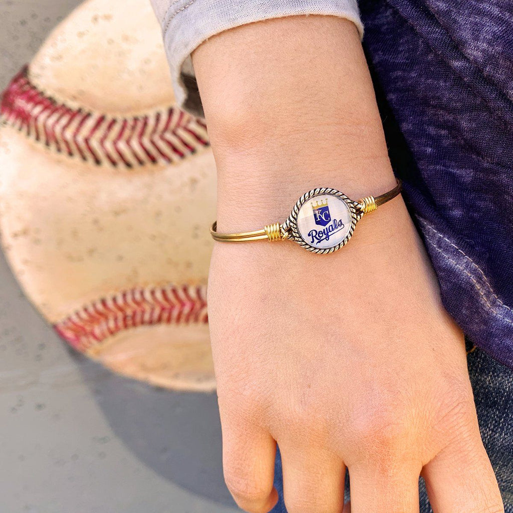 Kansas City Royals Bangle Bracelet choose finish: