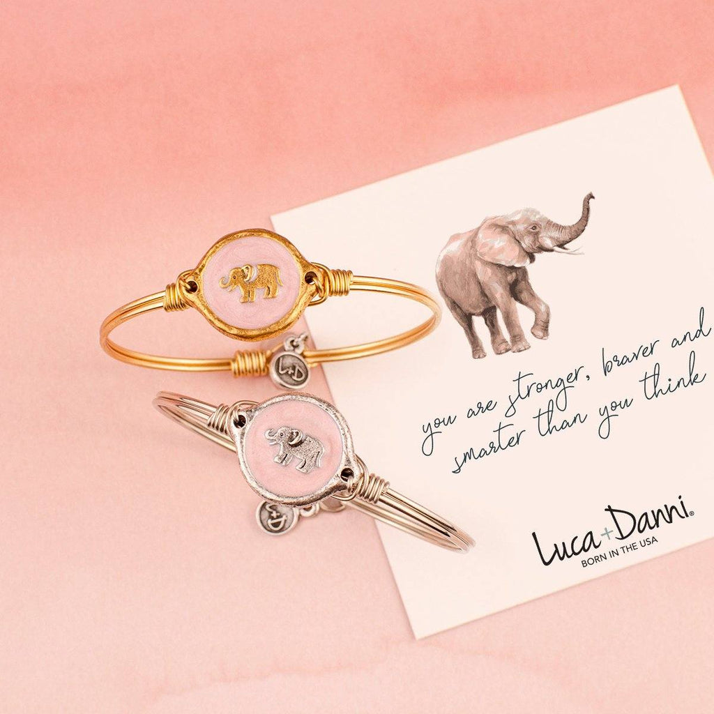 Majestic Elephant Bangle Bracelet choose finish: