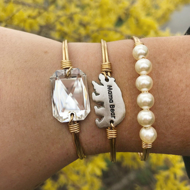 Mama Bear Stack in Crystal