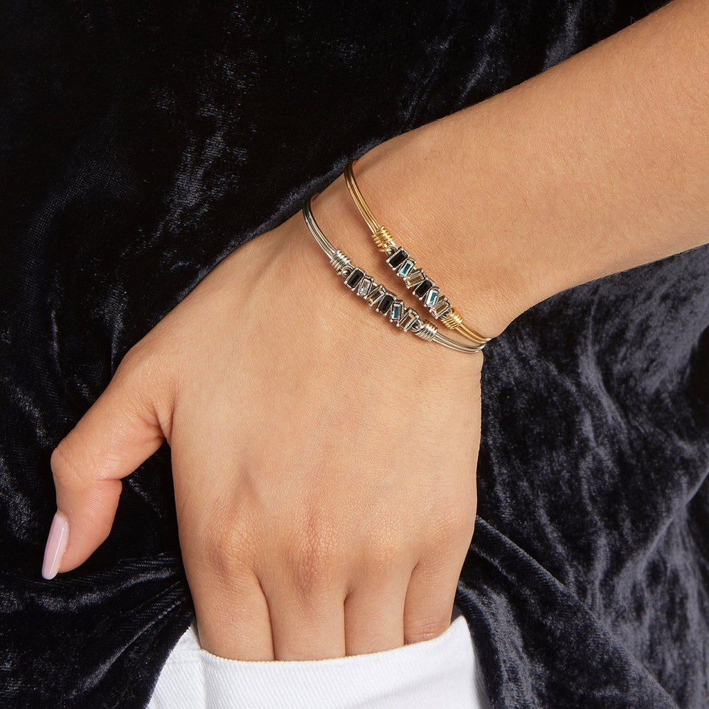 Mini Hudson Bangle Bracelet in Luxe Ombre choose finish: