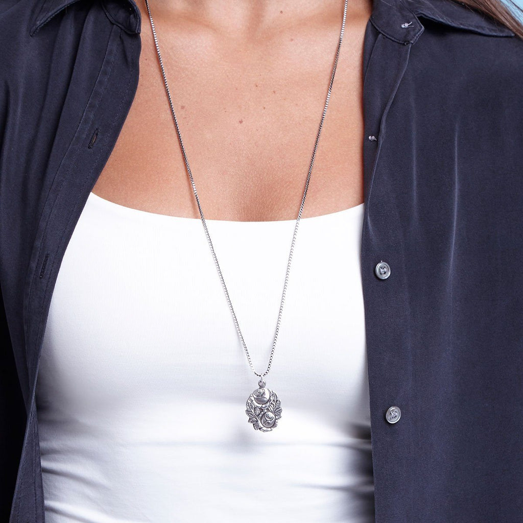 Miraculous Locket Necklace-Necklace-finish:-Luca + Danni
