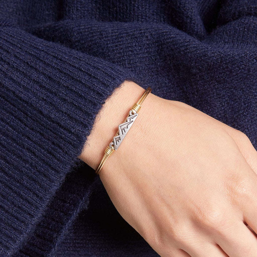 Mountain Bangle Bracelet choose finish: