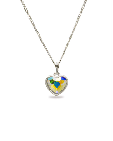 Crystal AB Mother's Day Heart Pendant Necklace