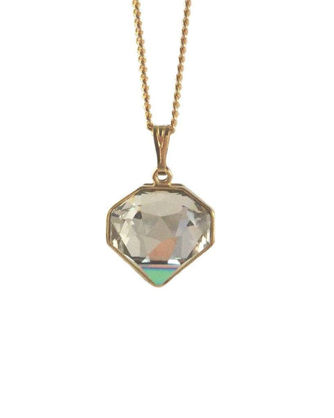 Shine Like A Diamond Necklace In Vitrail Green