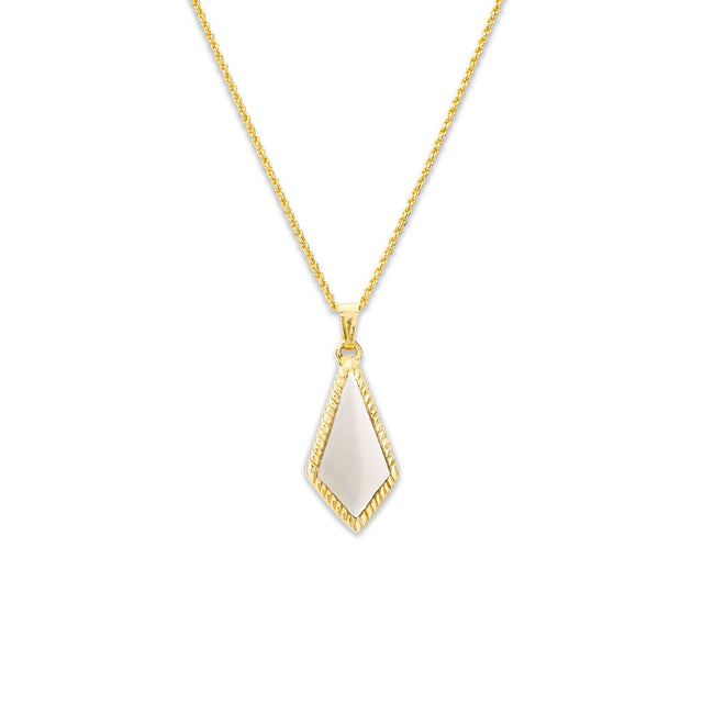 Sloane Necklace in Mother in Pearl-Necklace-finish:18kt Gold Plated-Luca + Danni