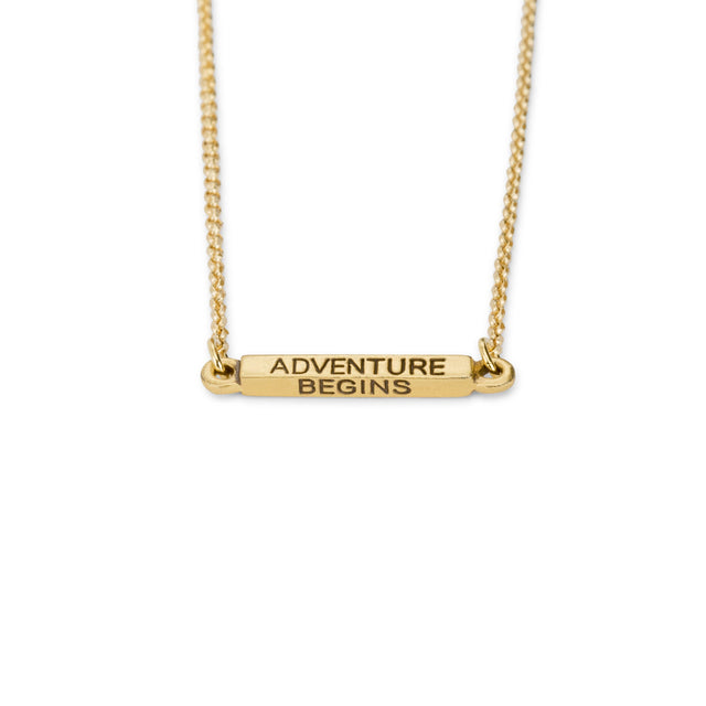 Adventure Begins Necklace
