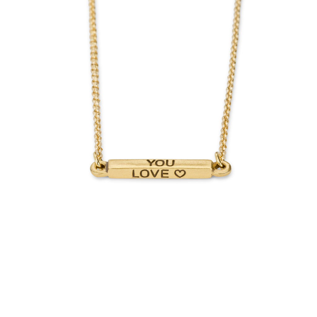 Do What You Love Necklace-Necklace-finish:18kt Gold Plated-Luca + Danni