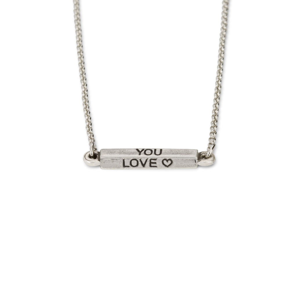 Do What You Love Necklace-Necklace-finish:Silver Plated-Luca + Danni