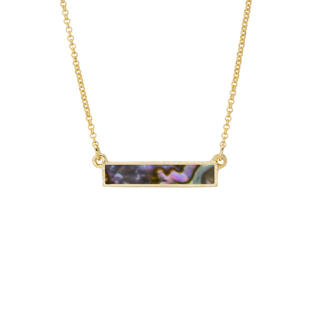 Hudson Necklace in Abalone Shell-Necklace-finish:18kt Gold Plated-Luca + Danni
