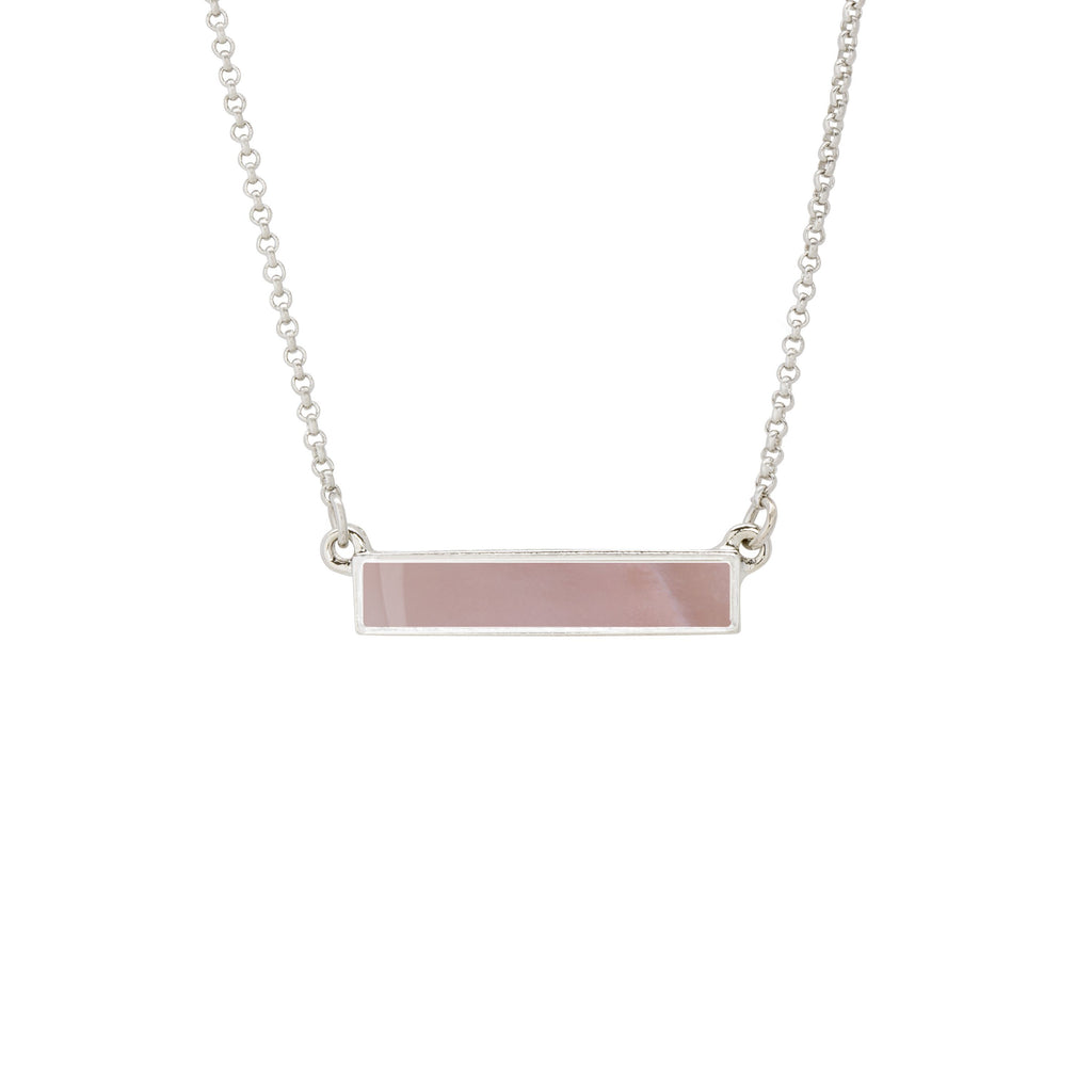 Hudson Necklace in Pink Mussel Shell