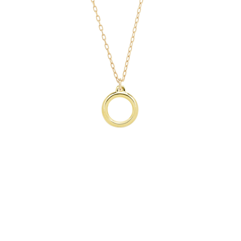 Zen Circle Necklace-Necklace-finish:18k Gold Plated-Luca + Danni