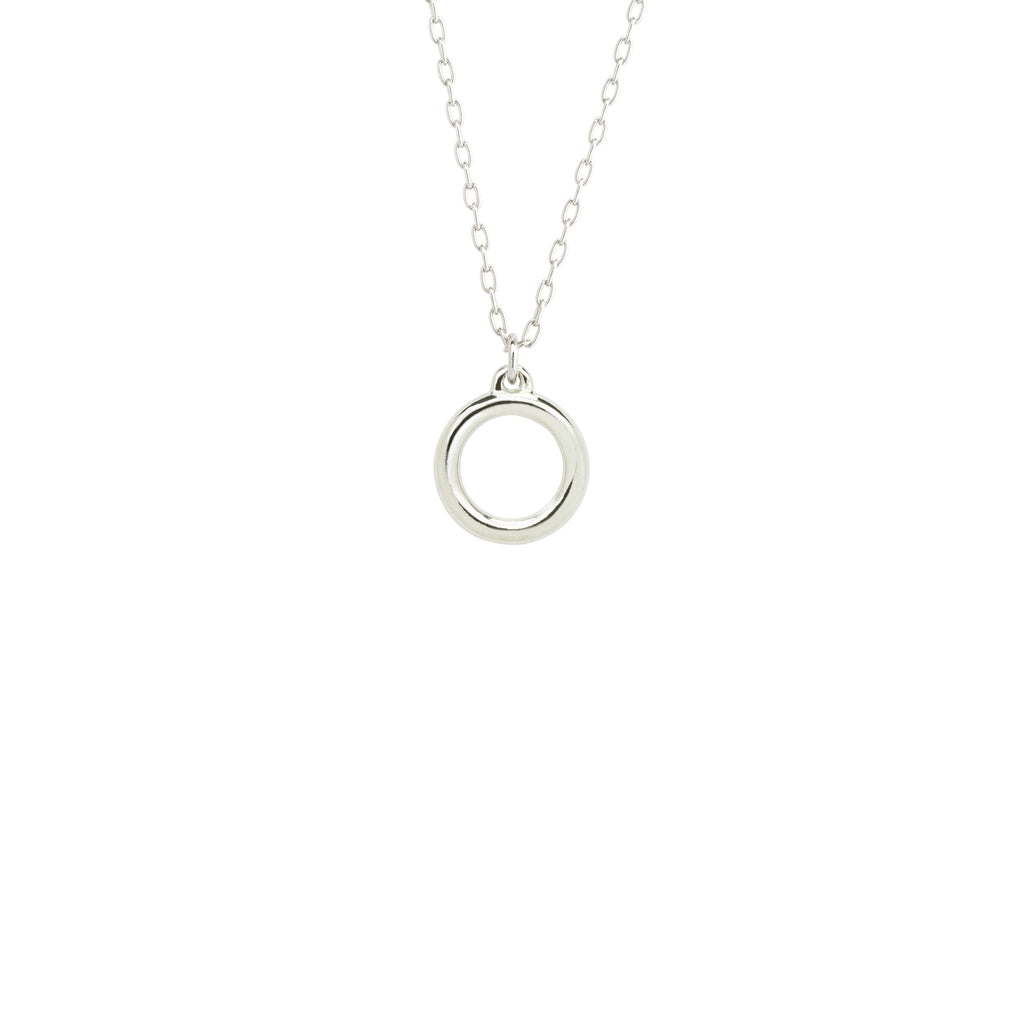 Zen Circle Necklace-Necklace-finish:Silver Plated-Luca + Danni