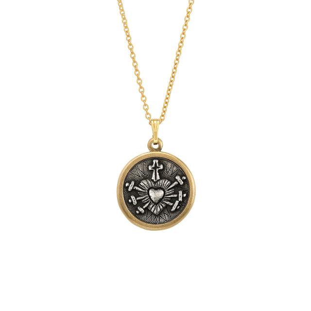Sacred Heart Necklace finish:18k Gold Plated