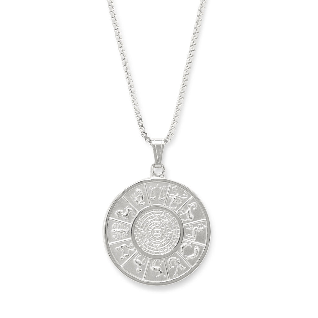 Zodiac Necklace choose finish:Silver Plated