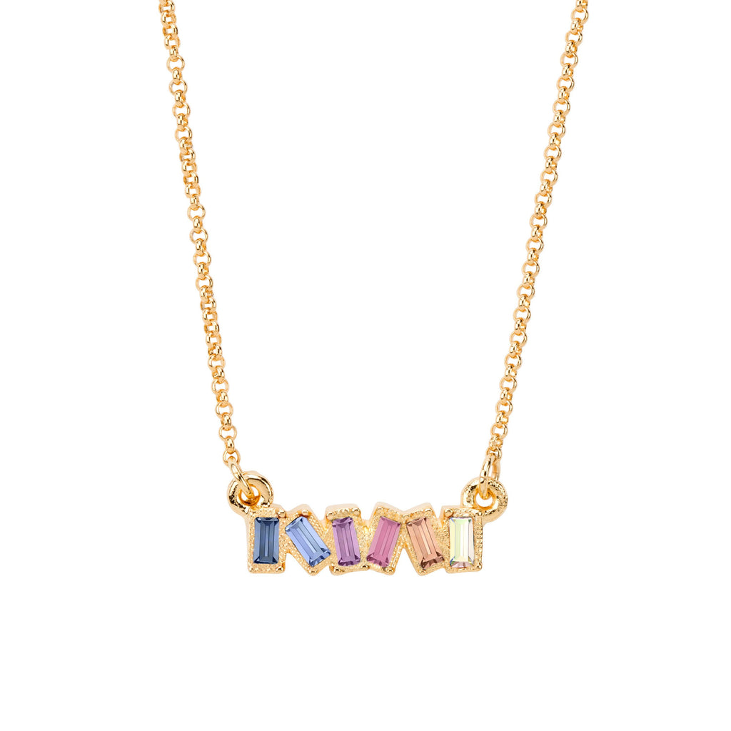 Mini Hudson Necklace in Light Ombre choose finish:18k Gold Plated