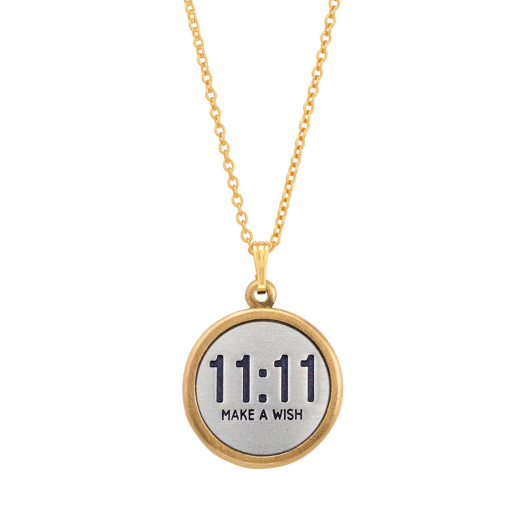 11:11 Make a Wish Necklace choose finish:18k Gold Plated