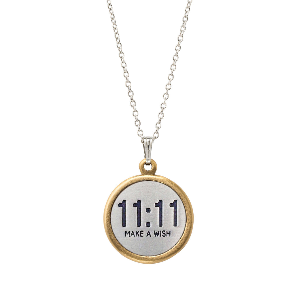 11:11 Make a Wish Necklace choose finish:Silver Plated