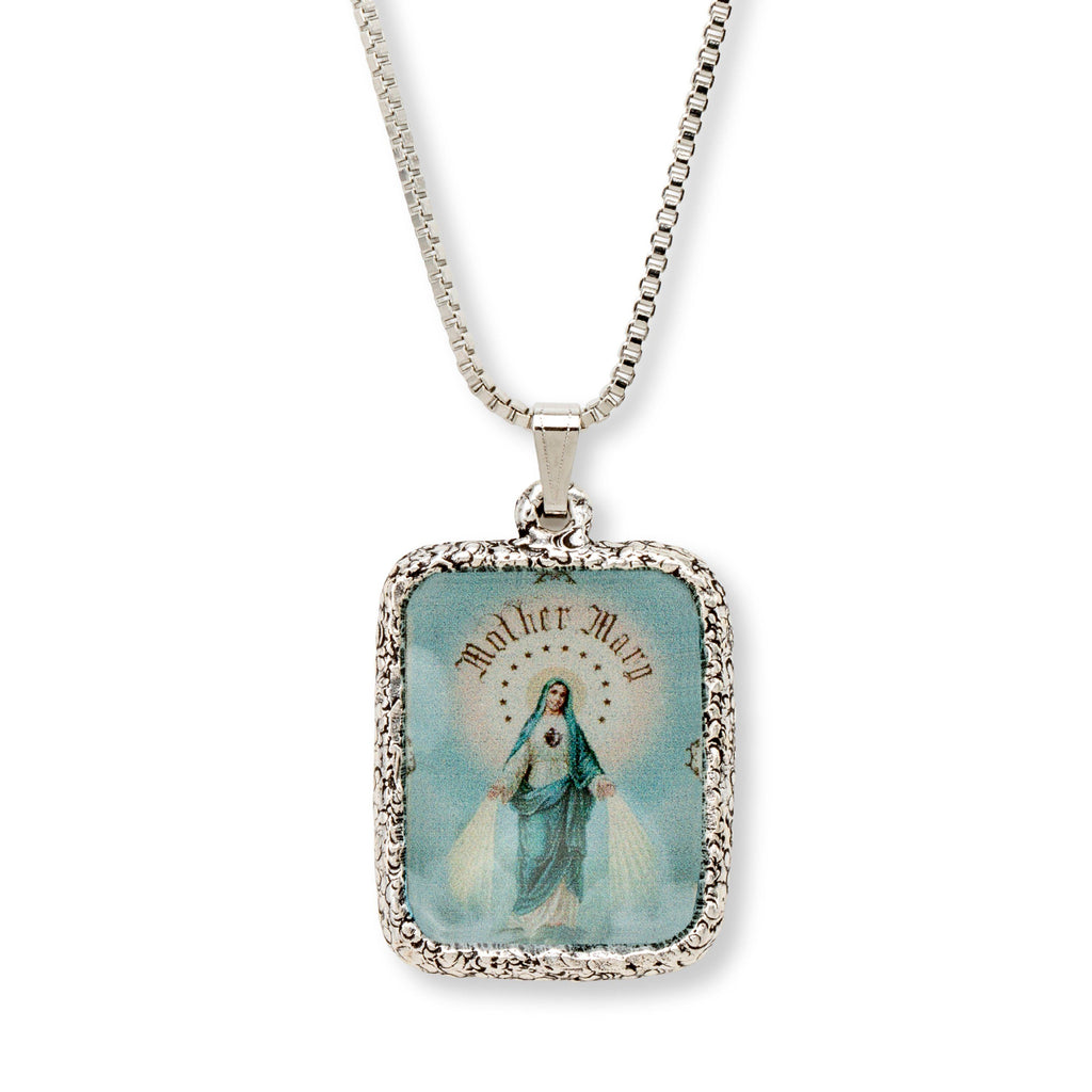 Immaculate Mother Necklace choose finish:Silver Plated