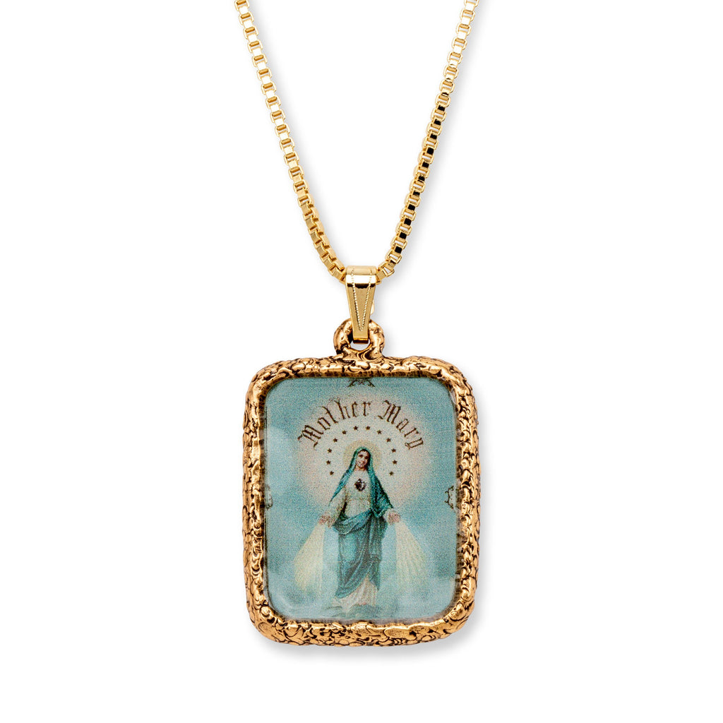 Immaculate Mother Necklace choose finish:18k Gold Plated